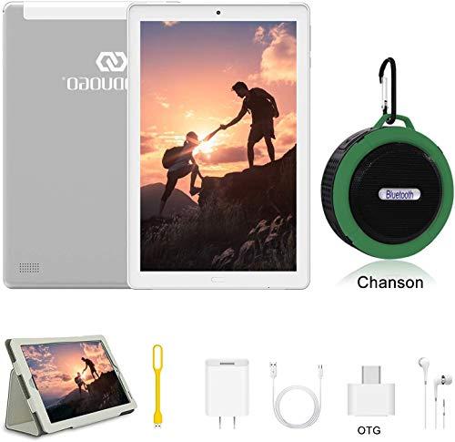 Tablet 10 Pulgadas 4 GB RAM 64/128GB ROM Android 9.0 Ultrar- Rápido Tablets 4G Dual SIM / WiFi 7500mAh Batería Quad Core (GPS,  Bluetooth,  OTG,  Netfilix, Type- C) -  Certificación Google GMS