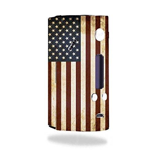 Decal Sticker Skin WRAP American Flag Grunge Vintage for Wismec Reuleaux RX200
