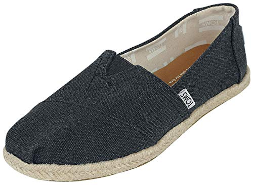 TOMS Alpargata Classic, Mujer, Negro (Black Washed Canvas 001), 38 EU