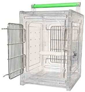 P & P Acrylic Parrot Travel Carrier CAGE Bird Cages Toy Toys Quakers, Lories, Senegal, Parakeet, Parrot