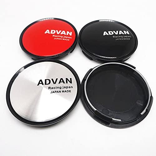 Cubierta del cubo de rueda 4pcs 63mm es adecuado para Advan Racing Wheel Center Wheel Logo Insignia Cap Pegatina Coche Estilo Accesorios Cubierta central (Color : B)