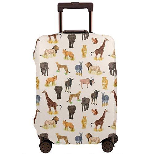Maleta de viaje Protector de animales salvajes Safari Animal Zoo Tema Equipaje Cubierta Protectora de Viaje Maleta Maleta Elástica Protector Cubiertas para Equipaje de 18-21 pulgadas