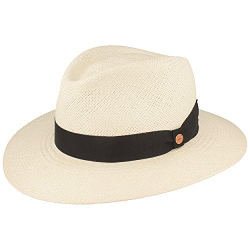 Mayser Orginal Panama-Hut | Stroh-Hut | Sommer-Hut aus Ecuador – Handgeflochten, UV-Schutz 30, Wasserabweisend, Bruchschutz (63, Weiß)