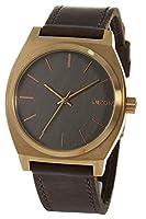 腕時計 ニクソン タイムテラーA045-2001 グレー×ピンクゴールド/ブラウンレザー メンズ レディース 時計 [並行輸入品]