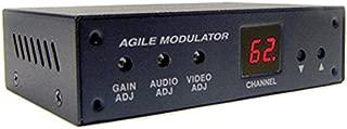 Universal Composite A/V to RF Coax Agile Modulator for NTSC PAL B/G/D/K/I/A