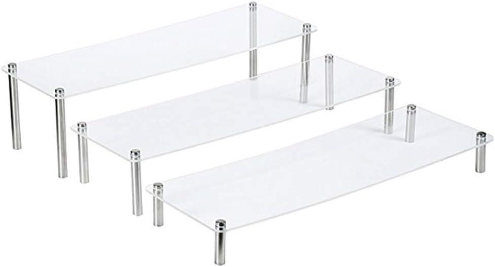 FUNCOCO Popular popular Display Stand 3Pieces Set Ladder CuPieceake Dis latest Acrylic