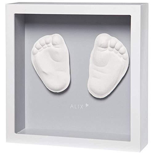 Baby Art My Little Steps Kit Impronta Per Scultura Dei Piedini Del Neonato, Quadro Per Decorazione Cameretta, Regalo Nascita, Colore Grigio
