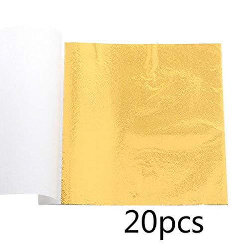 9x9cm Praktisch K Puur glanzend bladgoud voor vergulden Funiture-lijnen Muurambachten Ambachten Vergulden Decoratie Glitterpapier, Goud
