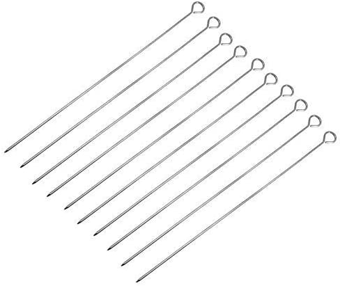 YYAI-HHJU Home 10 Stainless Steel Atlanta Mall Skewers Barbecue Grill Max 51% OFF Evenly