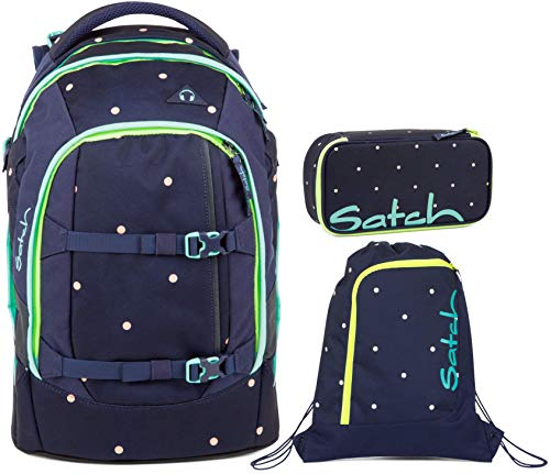 Satch Pack Pretty Confetti 3er Set Schulrucksack, Sportbeutel & Schlamperbox