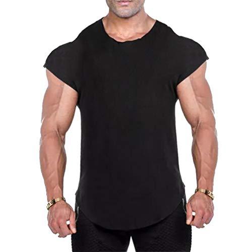 MEIHAOWEI Fitness Herren Kleidung Muscle Gorilla Solide Gym Tank Tops Hip Hop Weste Street Wear Crossfit Ärmelloses T-Shirt Schwarz 2XL
