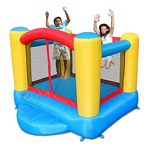 ZCYXQR Tobogán para niños Castillo Hinchable al Aire Libre Trampolín Cuadrado para el hogar Parque acuático Castillo Travieso Regalo Favorito de los niños (Deportes al Aire Libre)