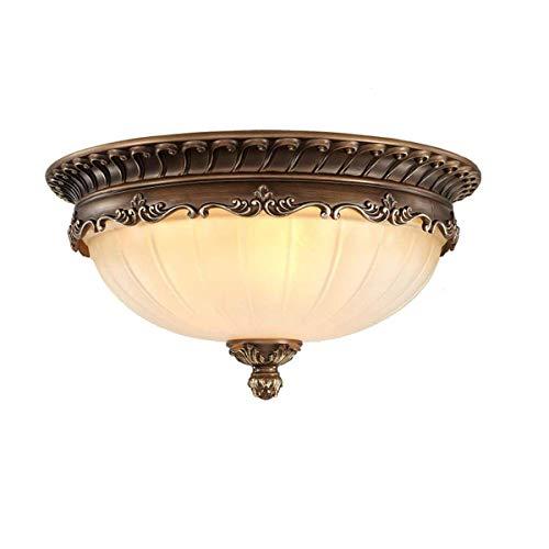 KJLARS Retro Rund Deckenlampe Wohnzimmer Deckenleuchte Küche Deckenbeleuchtung Schlafzimmer Vintage Lampe Glas Lampeschirm (8148-48cm)