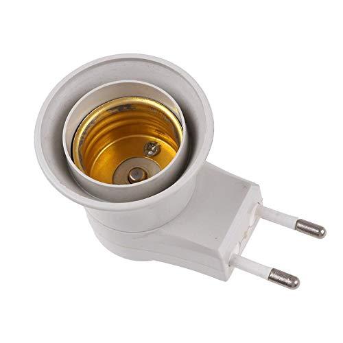 Domybest lamphouder met schroeffitting, E27, houder, adapter, LED-lamp, adapter voor stopcontact met schakelaar