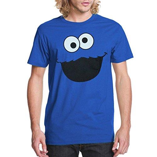 Sesame Street Cookie Monster Face Adult T-Shirt-Medium