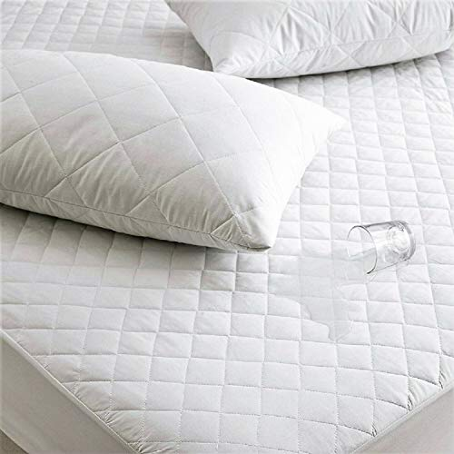 Jasmin Elinor Quilted Waterproof Mattress Protector Cover Extra Deep 40cm Fitted Skirt - King Bed Size 150x200cm