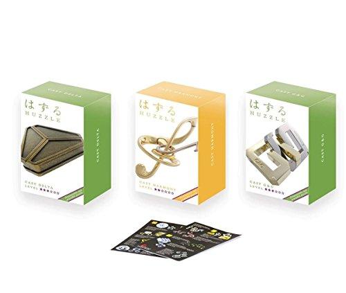 GICO Cast Huzzle Puzzle Geschenkset No.9 Delta, Harmony, G&G - SG 2-3 + Cast Huzzle Produktflyer -No.9