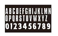 高さ2インチ MIW2 反射 ラメ ホログラム メタリック マットPU 暗闇で光るビニール アイロン接着 転写文字 数字 衣類用 26文字 10桁 (ホワイトPUビニール)