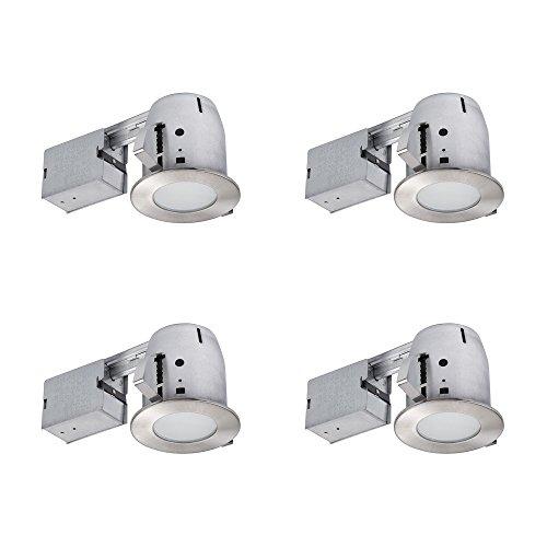 Globe Electric 90973 4' IC Rated Bathroom Recessed Lighting...