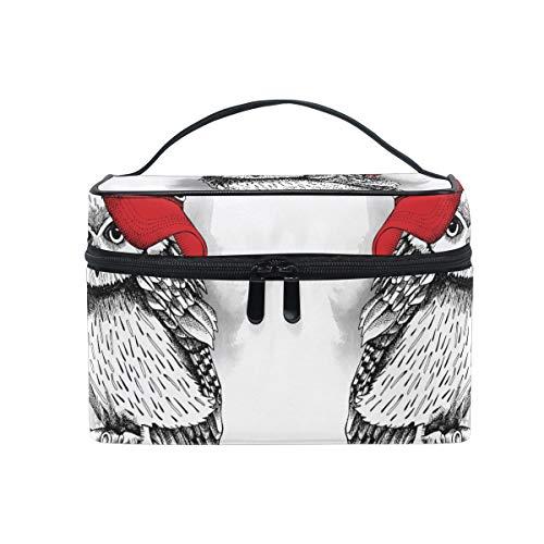 Kühler Vogel Eulen Makeup Tasche Organizer Kosmetikkoffer Kosmetiktasche Kulturbeutel Groß Bag für Mädchen Frauen Damen