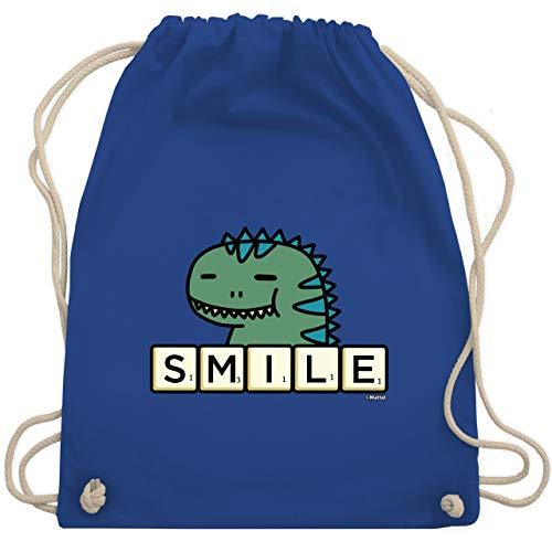 Shirtracer Scrabble Tasche - Smile - Unisize - Royalblau - Statement - WM110 - Turnbeutel und Stoffbeutel aus Baumwolle