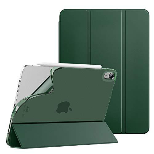 Dadanism Custodia Protettiva Compatibile con iPad Air 4 (4a Generazione) iPad 10.9 Pollici 2020, Case in TPU Morbido, Ultra Sottile e Leggera, Auto Sveglia/Sonno Cover, Verde Notte