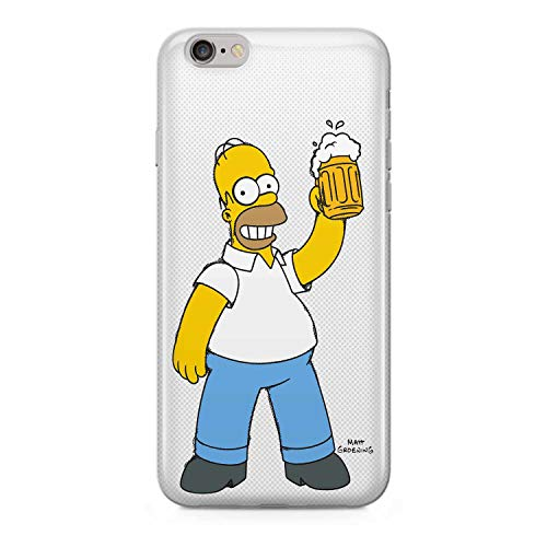 Finoo Homer Serie Silicone Simpsons iPhone 6/6S - Birra Amore, iPhone 6/6S