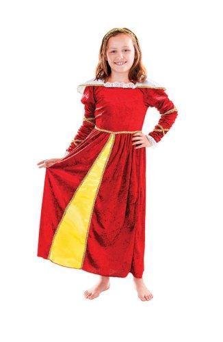 Tudor fille - enfants Costume de déguisement - Grand - 134cm à 146cm