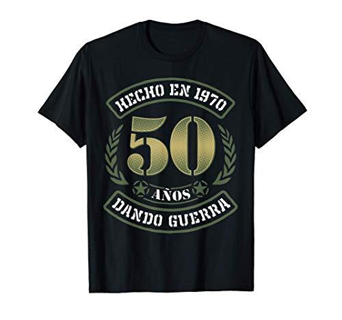 Regalo Original 50 Cumpleaños Hombre y Mujer Hecho en 1970 Camiseta