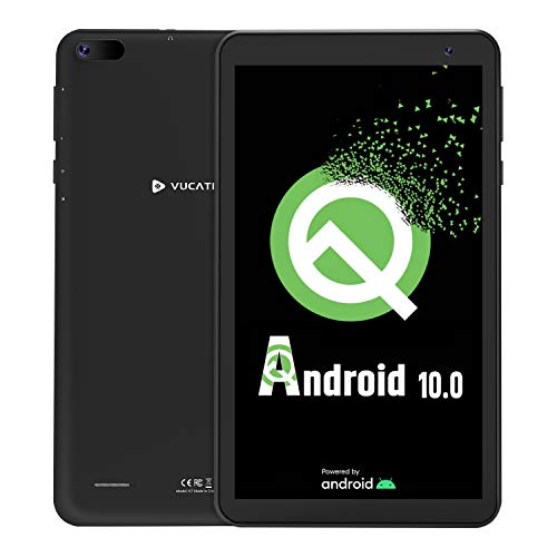 Tablet 7-Inch Android 10.0 Go - VUCATIMES 16GB ROM IPS HD Display Quad-Core Processor WiFi Bluetooth 4.2 Google Certified, Play Store Pre Installed, N7 (Black)
