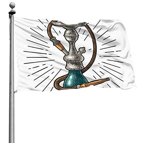 Like-like Banderas de Patio Decorativas Rayas de cachimba Banderas de Colores de Grabado Vintage para decoración Bandera de poliéster Impresa 4x6 pies (120x180 cm) Poliéster