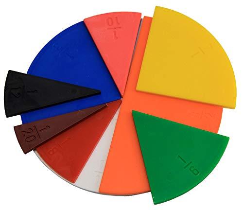 Bruchrechenteile rund, 22 Teile , color/modelo surtido