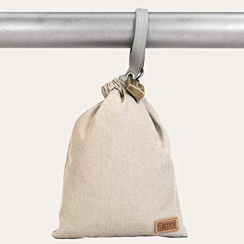 loctote AntiTheft Sack 3 Liter kleine schnittfeste Diebstahl Schutz Tasche mit Schloss, Farbe:Khaki