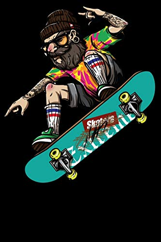 Skater Skateboarding: Notizbuch DIN A5 Blanko 120 Seiten Opa Skate Skaten Skateboard Sk8 Sport Ollie Cool Witzig Geschenkidee & Weihnachten Reise ... Planer Tagebuch Notizheft Notizblock