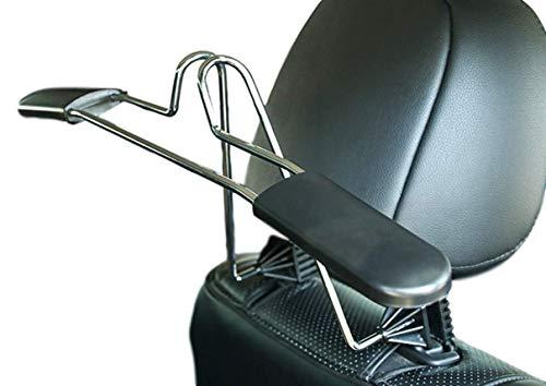 2er Set - Business Autokleiderbügel für Kopfstütze | Universal KFZ Reisebügel | Stabiler Teleskop Kleiderbügel zur Befestigung an der Kopfstütze | Car Dressbutler | PKW Rücksitz Aufhänger