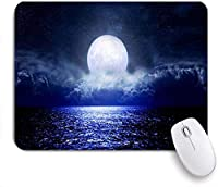 KAPANOUマウスパッド 満月の星空ファンタジー天文学旅行自然宇宙スター ゲーミング オフィス おしゃれ 防水 耐久性が良い 滑り止めゴム底 ゲーミングなど適用 マウス 用ノートブックコンピュータマウスマット