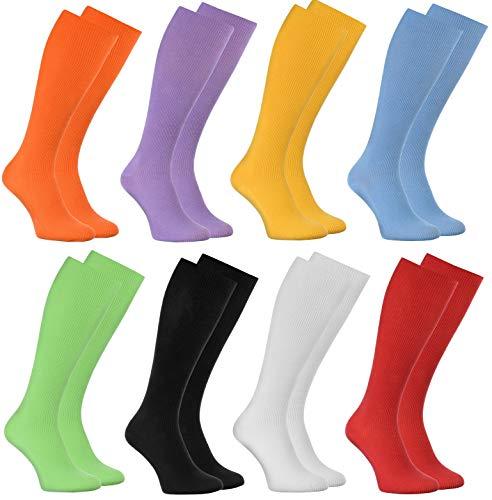 Rainbow Socks - Hombre Mujer Calcetines Largos Sin Elásticos - 8 Pares - Colores Claros - Talla36-38