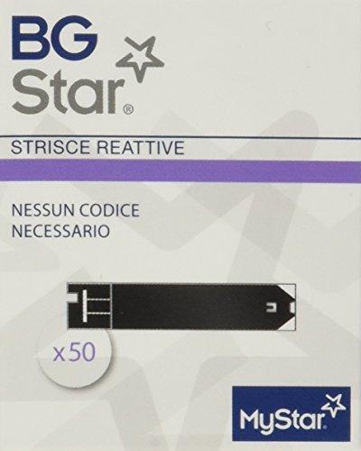 BGStar Mystar Strisce Reattive per misurazione della glicemia, 50 strisce