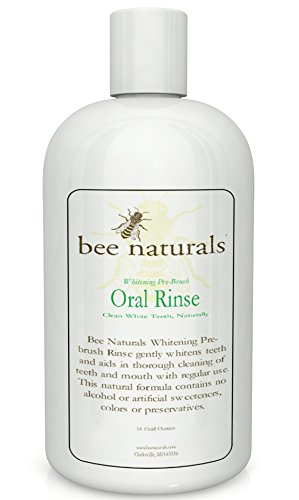 Best Whitening Pre-brush Oral Rinse - Clean White Teeth Naturally - Includes Erythritol - Beautiful Smile & Fresh Breath - Neutralize Odor & Germs - No Harmful Chemicals, Alcohol, Artificial Sweetener