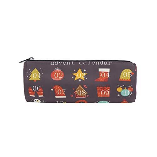 BONIPE Cartoon Kerstmis Adventskalender etui zak zak school briefpapier Pen Box Rits cosmetische make-up tas