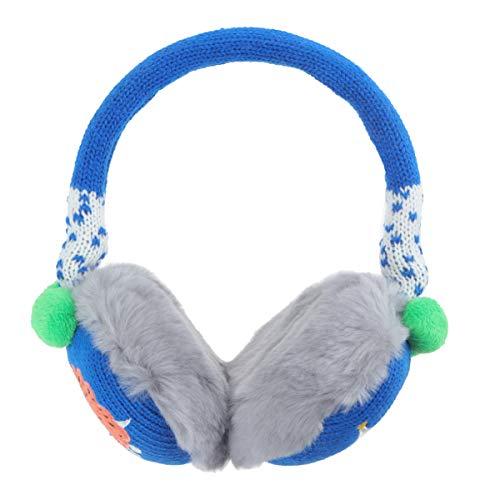 Fenical Ohrenschützer Kinder Plüsch Ohrenwärmer Verstellbare Gestrickte Winter Ohrenschützer für Baby Kinder Jungen Mädchen Alter 2-7 Jahre Alt