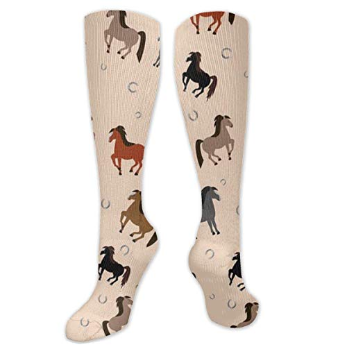 Jessicaie Shop Kleurrijk paard voor zowel mannen als vrouwen compressiekousen gegradueerde support Ladies Running