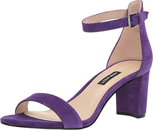 NINE WEST Womens Pruce Open Toe Special Occasion Ankle Strap, Purple, Size 6.5