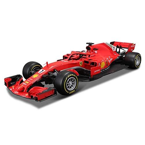 FZDLLFang Regalos para niños Juguete, Car Model 2018 1:18 Ferrari F1 Formula Racing de fundición a presión de aleación de simulación Adornos Toy Collection 29.5x11x6.5cm (Color : 7)