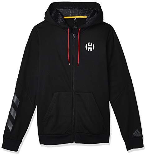 adidas Herren HRDN Fleece FZ Sweatshirt, Black, L