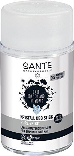 SANTE Naturkosmetik Kristall Deo Stick, Mindert Schweißproduktion, Mild & hautverträglich, Ohne Alkohol, Vegan, 100g