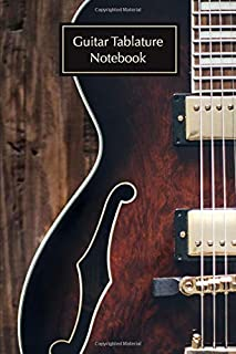 Guitar Tablature Notebook: A blank musical chord notation book for musicians; electric guitar cover