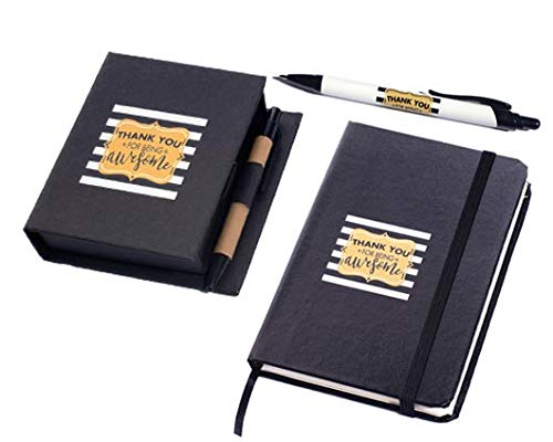 Anderson's Thank You for Being Awesome Notebook, Pen, and Desk Caddy Gift Set
