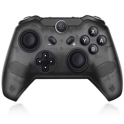 Maegoo Wireless Controller für Nintendo Switch, Bluetooth Switch Game Controller mit Gyro und Gravity Sensor, Remote Gamepad Joysticks Dual Vibration und Screenshot (Schwarz)