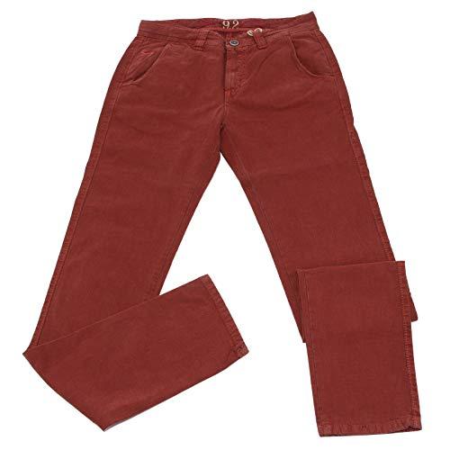 Carlo Chionna 0508K Pantalone Uomo 9.2 Rust-Colored Jeans Tessuto Operato Cotton Trouser Man [36]